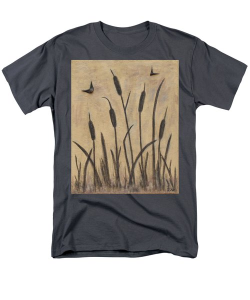 Cattails 2 Men's T-Shirt  (Regular Fit) by Trish Toro