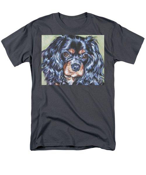 Cavalier King Charles Spaniel Black And Tan Men's T-Shirt  (Regular Fit) by Lee Ann Shepard