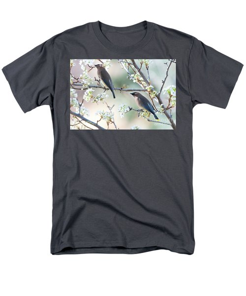 Cedar Wax Wing Pair Men's T-Shirt  (Regular Fit) by Jim Fillpot