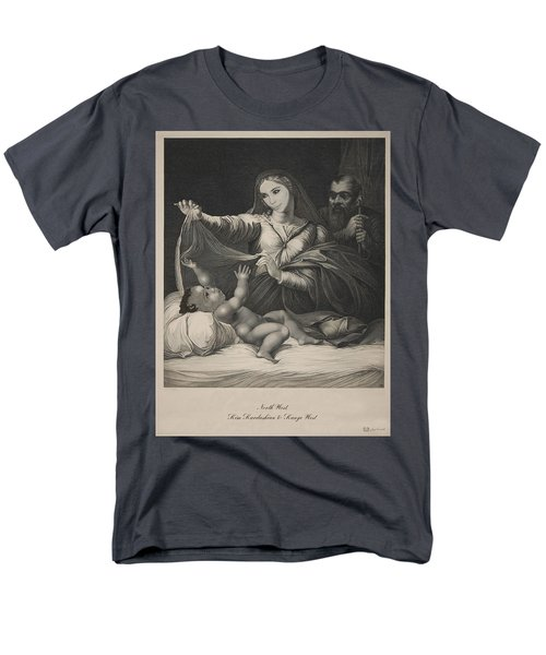 Celebrity Etchings - North Kim And Kanye Men's T-Shirt  (Regular Fit) by Serge Averbukh
