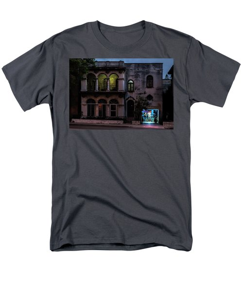 Men's T-Shirt  (Regular Fit) featuring the photograph Cell Phone Shop Havana Cuba by Charles Harden