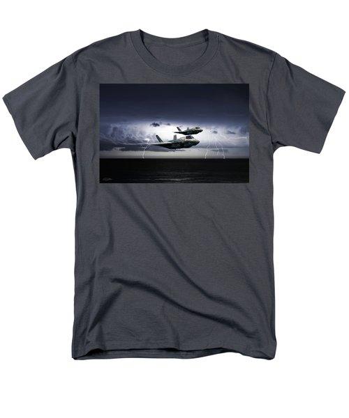 Men's T-Shirt  (Regular Fit) featuring the digital art Chain Lightning by Peter Chilelli