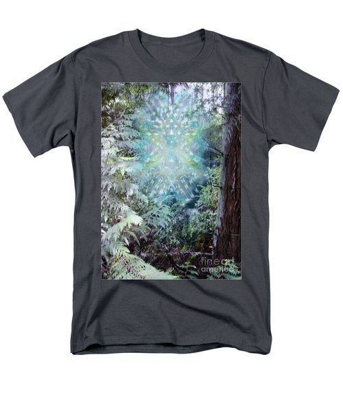 Men's T-Shirt  (Regular Fit) featuring the digital art Chalice-tree Spirit In The Forest V3 by Christopher Pringer