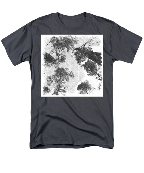 Charcoal Trees Men's T-Shirt  (Regular Fit) by RKAB Works