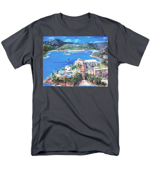 Charlotte Amalie Marriott Frenchmans Beach Resort St. Thomas Us Virgin Island Aerial Men's T-Shirt  (Regular Fit) by Bernadette Krupa