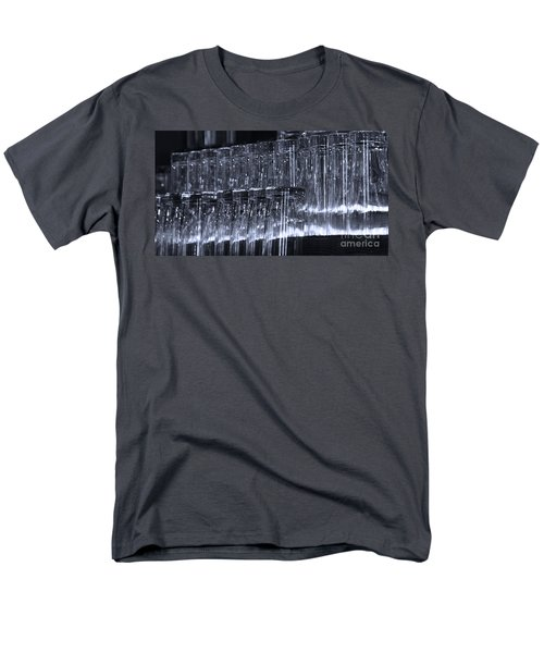 Chasing Waterfalls - Blue Men's T-Shirt  (Regular Fit) by Linda Shafer