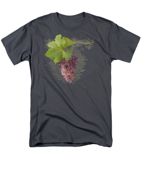 Chateau Pinot Noir Vineyards - Vintage Style Men's T-Shirt  (Regular Fit) by Audrey Jeanne Roberts