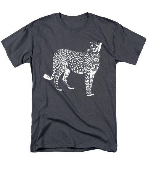Cheetah Cut Out White Men's T-Shirt  (Regular Fit) by Greg Noblin