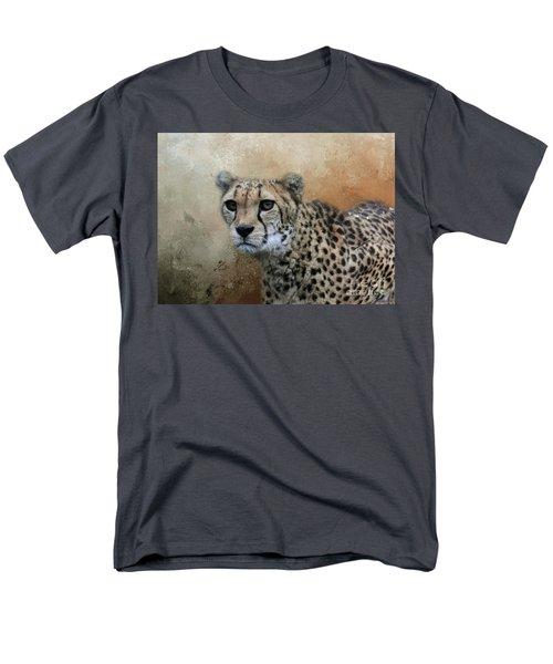 Cheetah Portrait Men's T-Shirt  (Regular Fit) by Eva Lechner