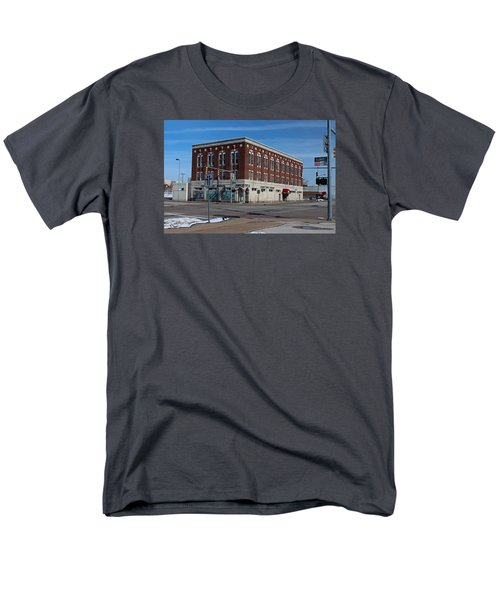 Men's T-Shirt  (Regular Fit) featuring the photograph Cherry Street Mission In Winter by Michiale Schneider