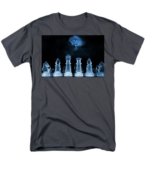 Chess Game And Human Brain Men's T-Shirt  (Regular Fit) by Christian Lagereek