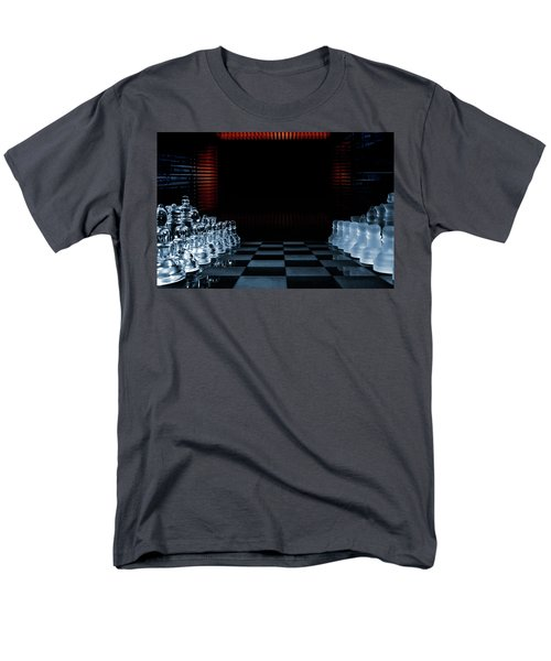 Chess Game Performed By Artificial Intelligence Men's T-Shirt  (Regular Fit) by Christian Lagereek