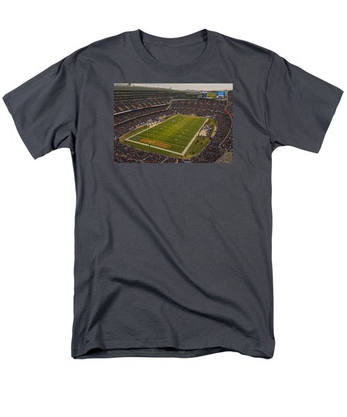 Chicago Bears Soldier Field 7795 Men's T-Shirt  (Regular Fit) by David Haskett