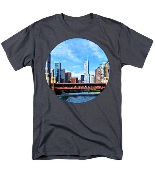 Chicago Il - Lake Shore Drive Bridge Men's T-Shirt  (Regular Fit) by Susan Savad