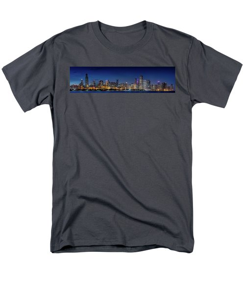 Men's T-Shirt  (Regular Fit) featuring the photograph Chicago Skyline After Sunset by Emmanuel Panagiotakis