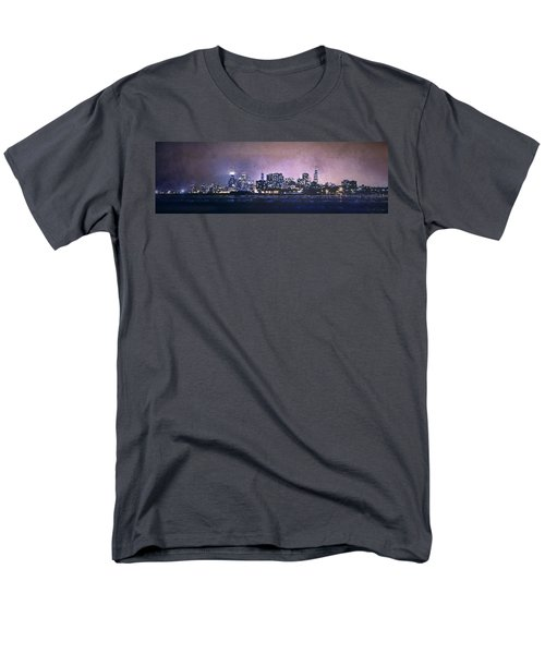 Chicago Skyline From Evanston Men's T-Shirt  (Regular Fit) by Scott Norris