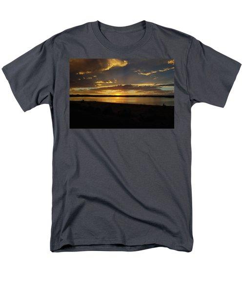 Chickahominy  Men's T-Shirt  (Regular Fit) by Linda Larson