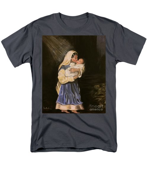 Men's T-Shirt  (Regular Fit) featuring the painting Child In Manger by Brindha Naveen