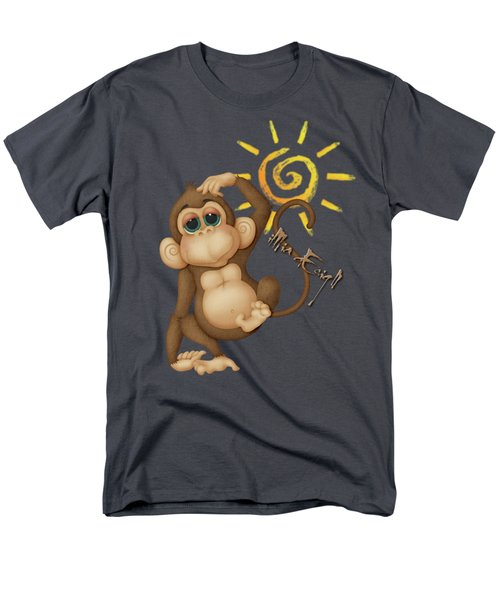 Chimpanzees, Mother And Baby Men's T-Shirt  (Regular Fit) by Maria Astedt