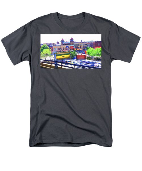Chinatown Chicago 1 Men's T-Shirt  (Regular Fit) by Marianne Dow