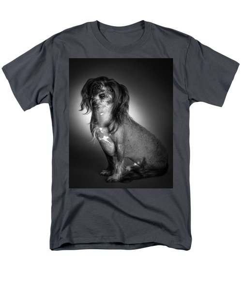 Men's T-Shirt  (Regular Fit) featuring the photograph Chinese Crested - 01 by Larry Carr