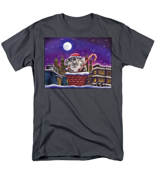 Christmas Koala In Chimney Men's T-Shirt  (Regular Fit) by Remrov