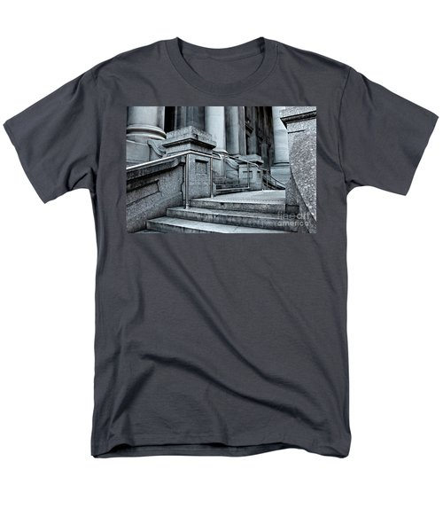 Men's T-Shirt  (Regular Fit) featuring the photograph Chrome Balustrade by Stephen Mitchell