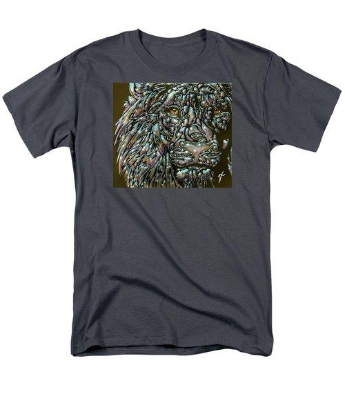 Men's T-Shirt  (Regular Fit) featuring the digital art Chrome Lion by Darren Cannell