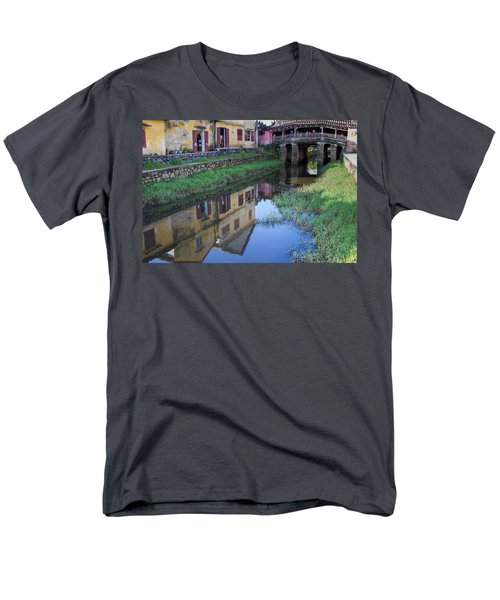 Men's T-Shirt  (Regular Fit) featuring the photograph Chua Cau Reflection by Hitendra SINKAR