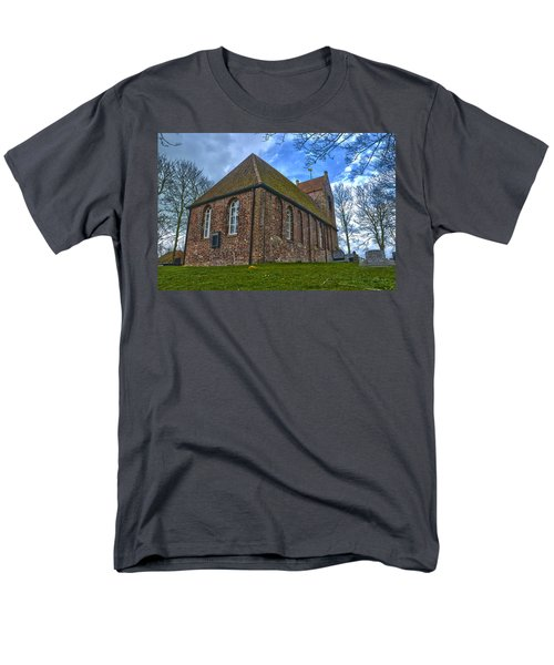 Church On The Mound Of Oostum Men's T-Shirt  (Regular Fit) by Frans Blok