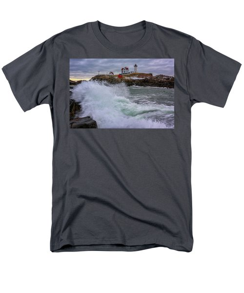 Men's T-Shirt  (Regular Fit) featuring the photograph Churning Seas At Cape Neddick by Rick Berk