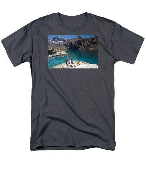 Churup Lake Men's T-Shirt  (Regular Fit) by Aivar Mikko