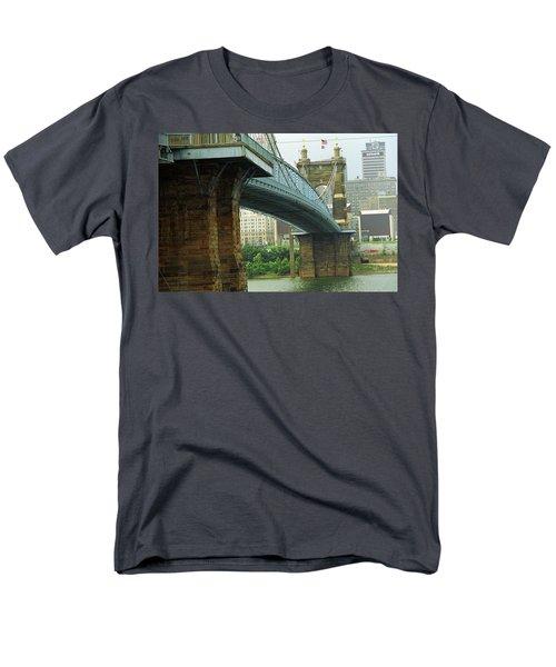 Cincinnati - Roebling Bridge 2 Men's T-Shirt  (Regular Fit) by Frank Romeo