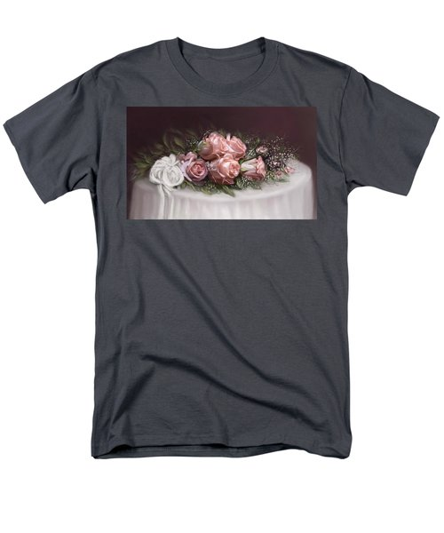 Men's T-Shirt  (Regular Fit) featuring the painting Spray Of  Roses by Bonnie Willis
