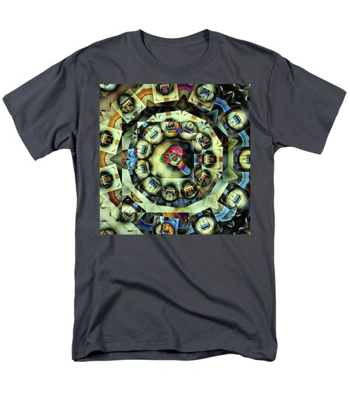 Men's T-Shirt  (Regular Fit) featuring the digital art Circled Squares by Ron Bissett