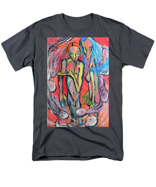 Men's T-Shirt  (Regular Fit) featuring the painting Circular - Around by Kenneth Agnello