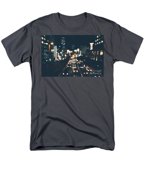 Men's T-Shirt  (Regular Fit) featuring the photograph City Lights by MGL Meiklejohn Graphics Licensing