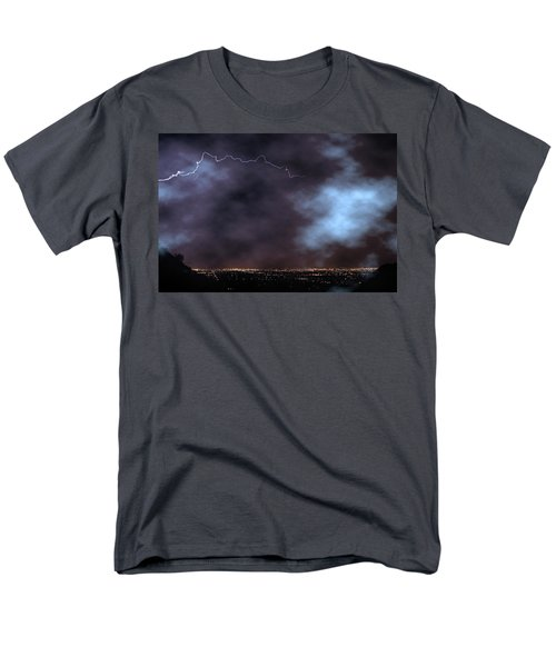 Men's T-Shirt  (Regular Fit) featuring the photograph City Lights Night Strike by James BO Insogna