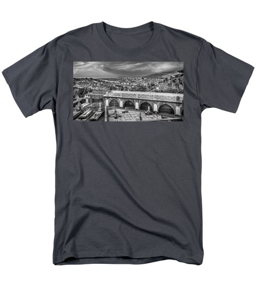 Men's T-Shirt  (Regular Fit) featuring the photograph Cityscape Of Florence And Cemetery by Sonny Marcyan