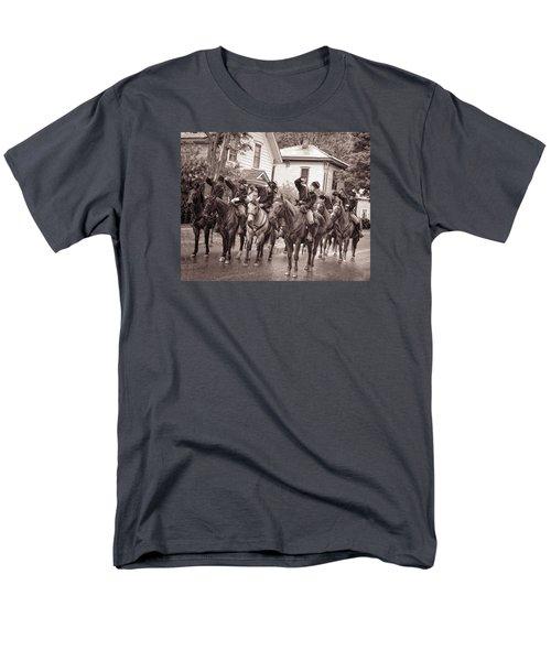 Civil War Soldiers On Horses Men's T-Shirt  (Regular Fit) by Rena Trepanier