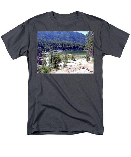 Clark Fork River Missoula Montana Men's T-Shirt  (Regular Fit) by Kay Novy