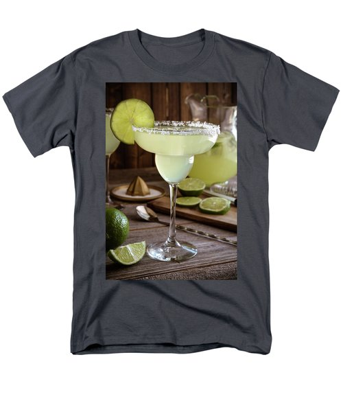 Men's T-Shirt  (Regular Fit) featuring the photograph Classic Lime Margaritas On The Rocks by Teri Virbickis