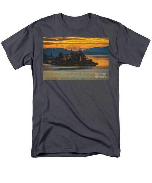 Clearlake Gold Men's T-Shirt  (Regular Fit) by Mitch Shindelbower
