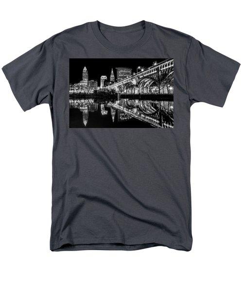Cleveland After Dark Men's T-Shirt  (Regular Fit) by Brent Durken