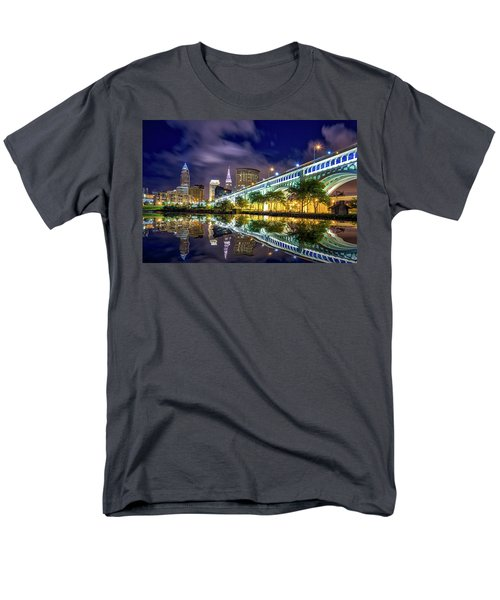Men's T-Shirt  (Regular Fit) featuring the photograph Cleveland Skyline 4 by Emmanuel Panagiotakis