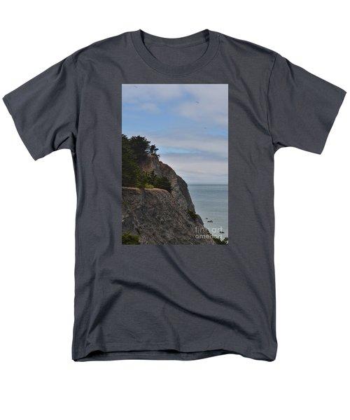 Cliff Hanger Men's T-Shirt  (Regular Fit) by Judy Wolinsky