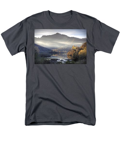 Men's T-Shirt  (Regular Fit) featuring the photograph Mist In The Evening by Gouzel -