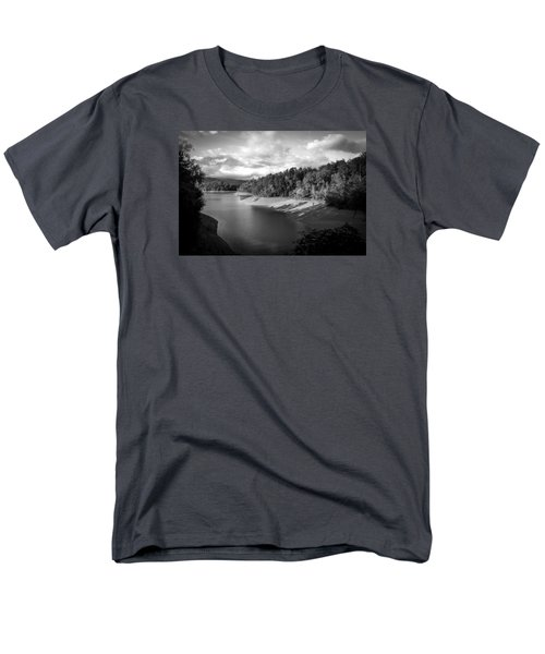 Men's T-Shirt  (Regular Fit) featuring the photograph Clouds Above The Nantahala River In Nc by Kelly Hazel