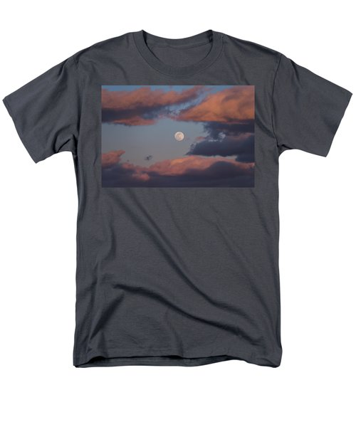 Men's T-Shirt  (Regular Fit) featuring the photograph Clouds And Moon March 2017 by Terry DeLuco