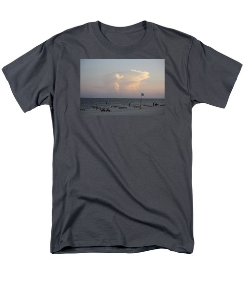 Men's T-Shirt  (Regular Fit) featuring the photograph Clouds At The Beach by Donna G Smith